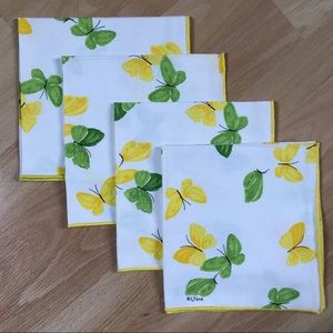 Vintage Vera Neumann Butterflies 4 Cloth Napkins
